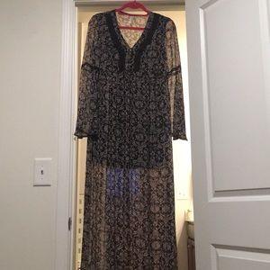 Long sleeve lightweight dress